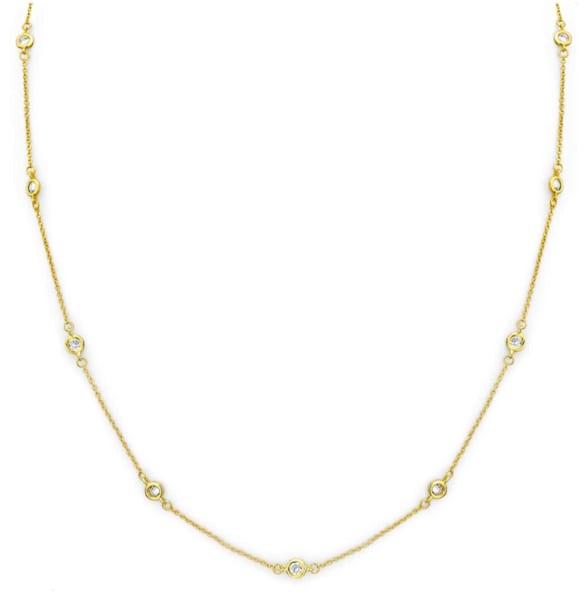 """18 KGP Regal Short Floating Necklace 18"""""""