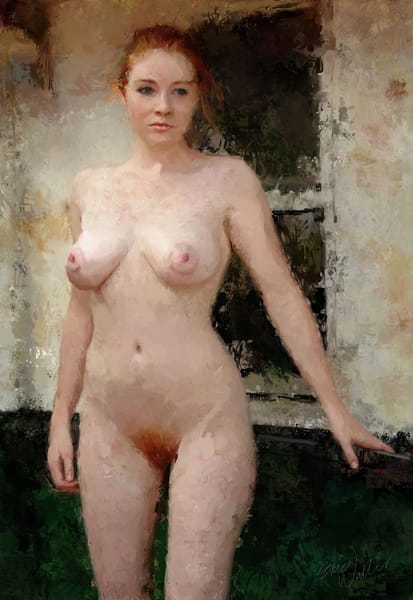 "Digital painting ""Pearl Skin"" by Eric Wallis."
