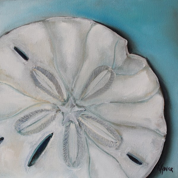 Sand Dollar Painting and Coastal Art by Kristine Kainer