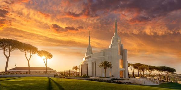 Rome Temple - Sunrise Panoramic