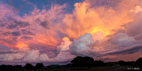storm, sunset, color, Bandera, Texas, blue, gray