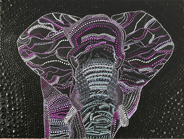 Purple Elephant Painting