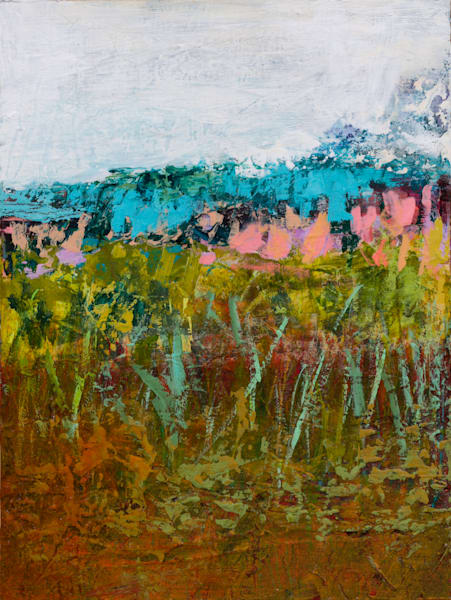 Western Abstract Landscape Early Spring Mountain Print
