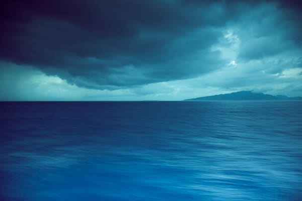 A tropical storm on the waters of Tahiti.