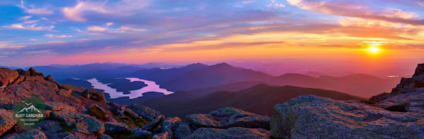 Lake Placid From Whiteface Panoramic Puzzle