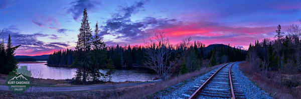 Little Safford Adk Train Tracks Panoramic Puzzle