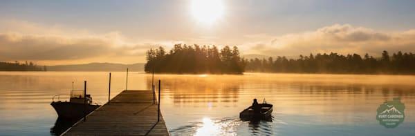 (Sold Out) Raquette Lake Dock Sunrise Panoramic Puzzle | Kurt Gardner Photogarphy