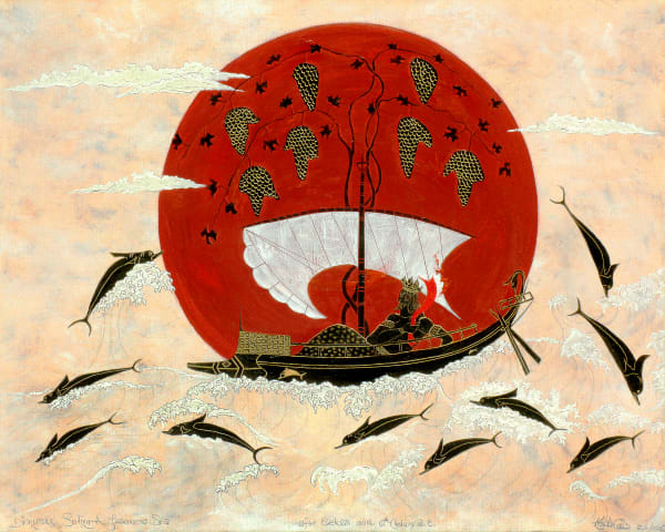 Dionysus Sailing a Japanese Sea-painting-print-s