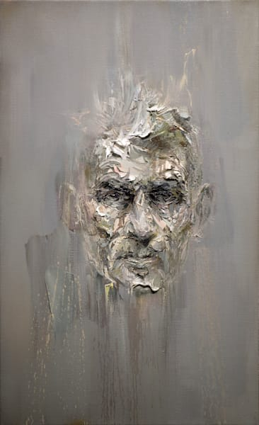 Samuel Beckett Iii (Oil On Print) Art | Mathieu Laca