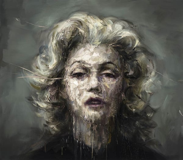 Marilyn Monroe I (Oil On Print) Art | Mathieu Laca