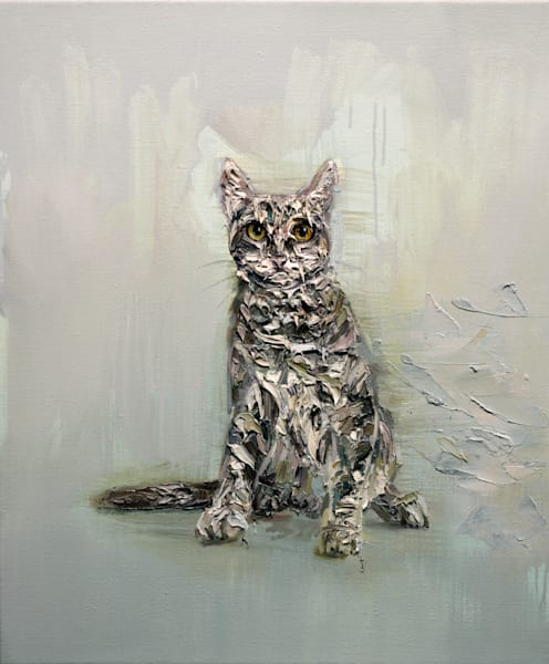 Cat (Oil on Print)