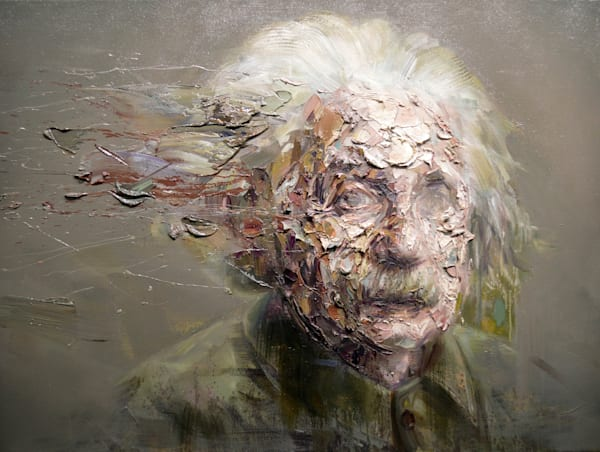 Albert Einstein Ii (Oil On Print) Art | Mathieu Laca