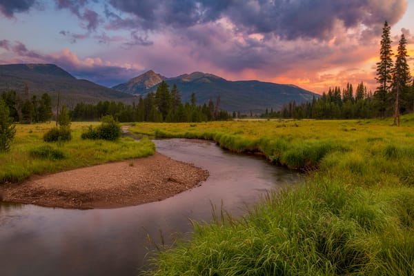 Photo of Baker Mountain and Colorado River at Sunrise RMNP