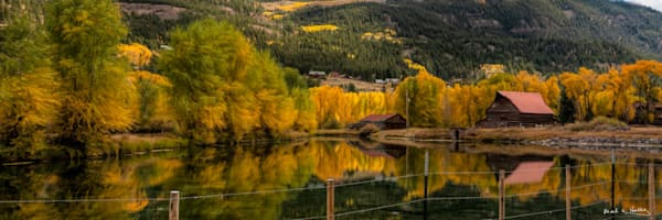 fall, aspen, reflection, water, lake-city, colorado, orange, red, colorful