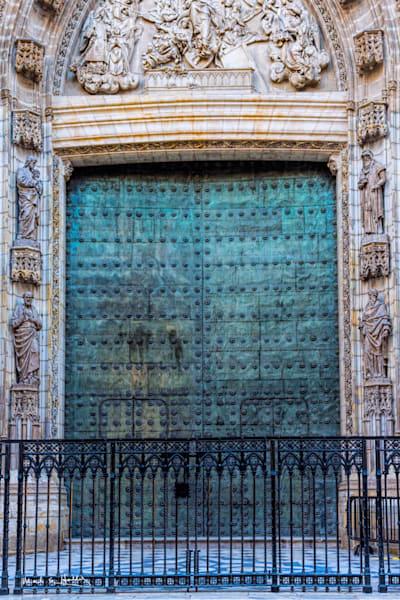 europe, sevilla, seville, spain, door, cathedral