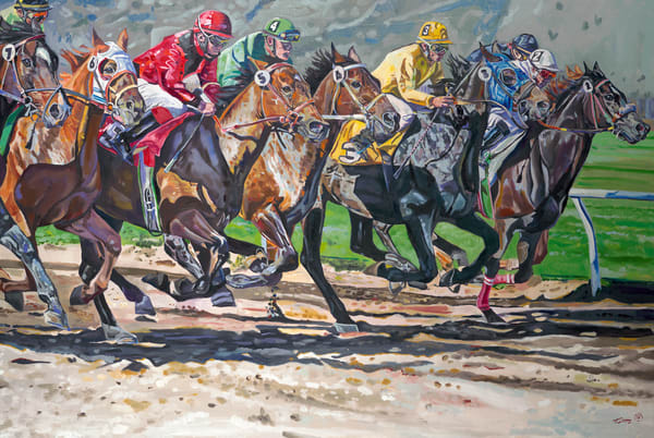 Tony Lipps Art Horse Race print