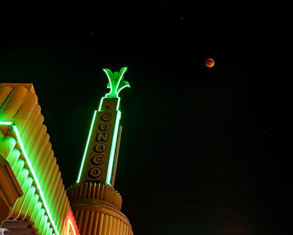 Eclipse Over The U Drop Inn Art | I am Rt 66