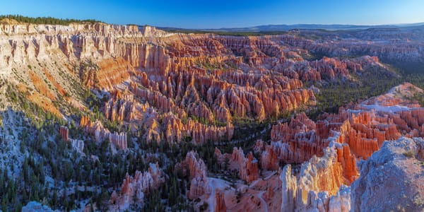Fine Art Panoramic Print of Sunrise overlooking Bryce Canyon National Park in Utah