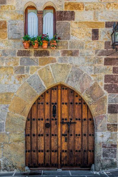 europ, spain, santillana, midieval, palace, door, oak, window