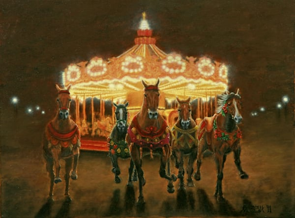 Good Night Carousel Fine Art Prints