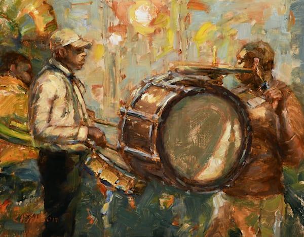Street Corner Band Original Oil Painting
