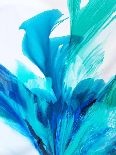 Blue Spring Small Art   Doreen Wulbrecht