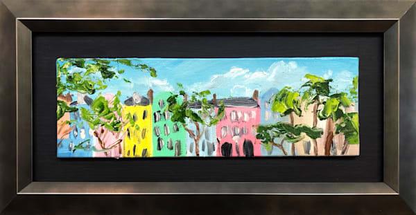 Rainbow Row mini | oil on canvas board