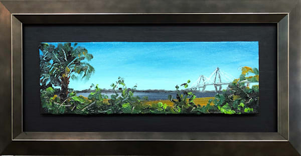 Ravenel from Mt Pleasant | oil on canvas board