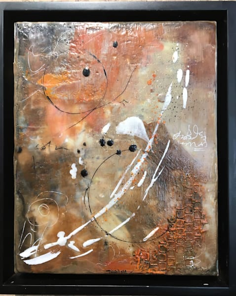 Encaustic, original art, abstract, colorful, mixed media encaustic