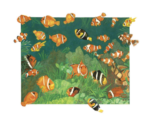 Clownfish Fine Art Giclee Prints by Dee Van Houten