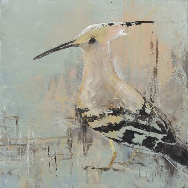 Eurasian Hoopoe, bird art by artist Sarah B Hansen