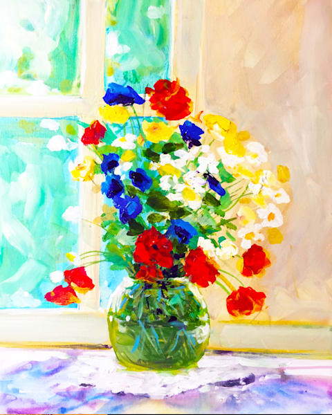 Floral Still Life In The Window