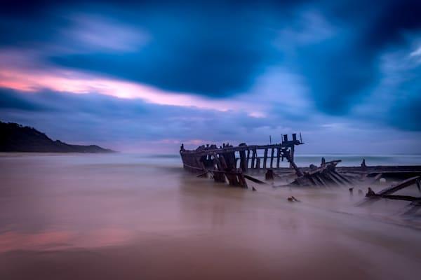 Aftermath - Fraser Island K gari Maheno Shipwreck Sunrise Queensland Australia