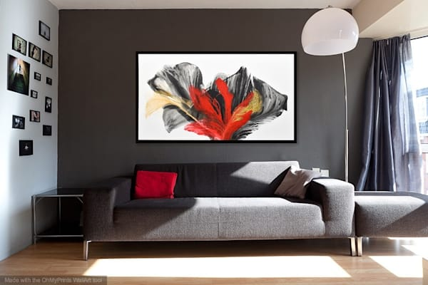 Red Bloom To Scale Art | Doreen Wulbrecht