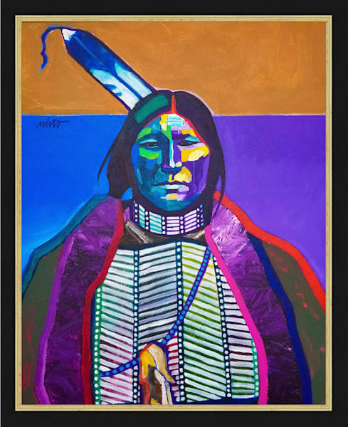 Sharp Nose - Arapaho | John Nieto Original Painting