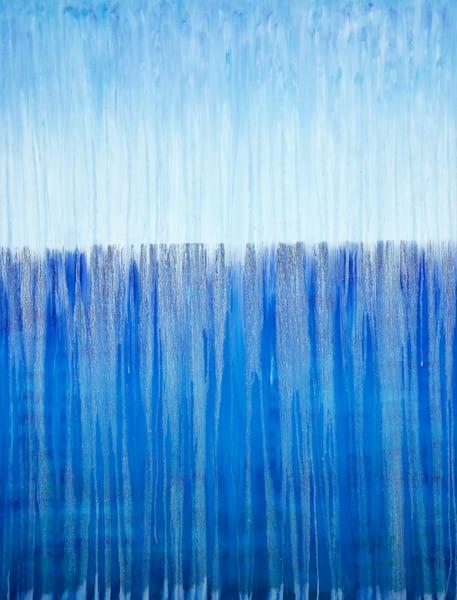 Rainy Moment 13 Open Ocean Rain Original Oil Painting by Rachel Brask 30x40in
