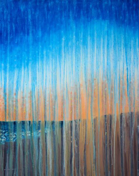 Rainy Sunrise Over Race Point Beach Original Oil Painting by Rachel Brask 24x30in