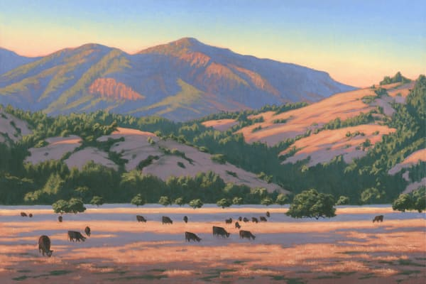 Grazing In The Golden Hour Art | Terry Sauve Fine Art