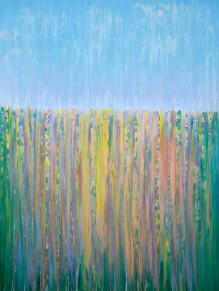 Rainy Moment 14 Late Spring Blossoms Original Oil Painting by Rachel Brask 30x40in