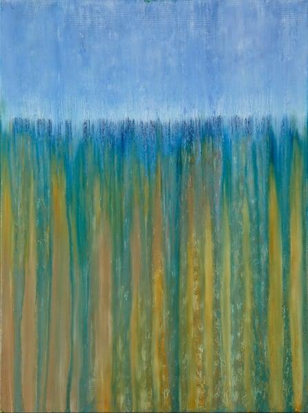 Beach Dunes In Rain Original Oil Painting By Rachel Brask 12x18in Art   Rachel Brask Studio, LLC