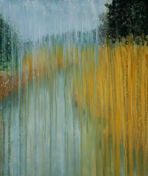 Palmett River Marsh in Rain Original Oil Painting by Rachel Brask