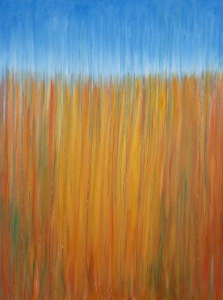 Rainy Moment 12 Sandy Desert Rain Original Oil Painting by Rachel Brask 30x40in