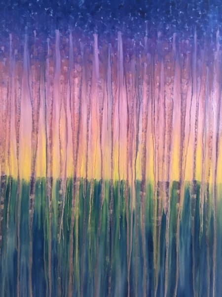 Rainy Moment 17 Rainy Ocean Sunset Original Oil Painting by Rachel Brask 30x40in