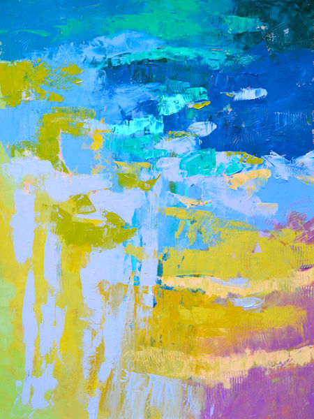 Large Abstract Water Painting, Dreamed a Wish by Dorothy Fagan