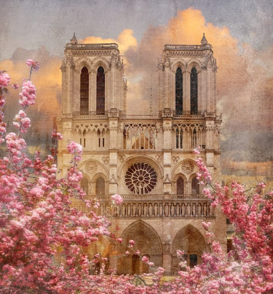 I'm Notre Dame, Je Suis Notre Dame, Good Luck Notre Dame, Famous Cathedral In Paris, France