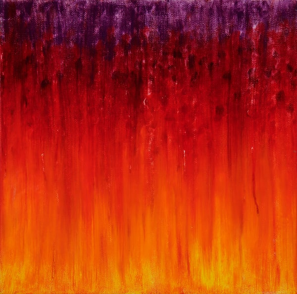 Fire Set To The Rain Ii By Rachel Brask Art | Rachel Brask Studio, LLC