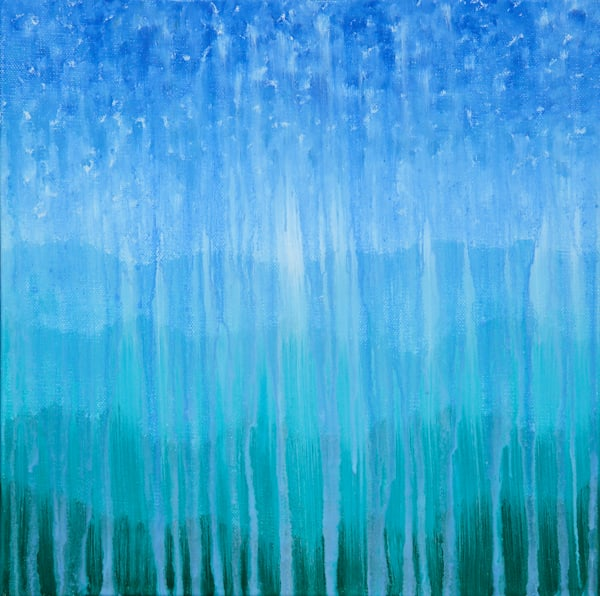 Forested Mountain Rain II by Original Oil Painting by Rachel Brask