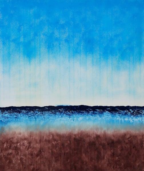 Beach Before It Rains Original Oil Painting by Rachel Brask