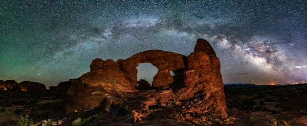 Milky Way Arching Over Turret Arch