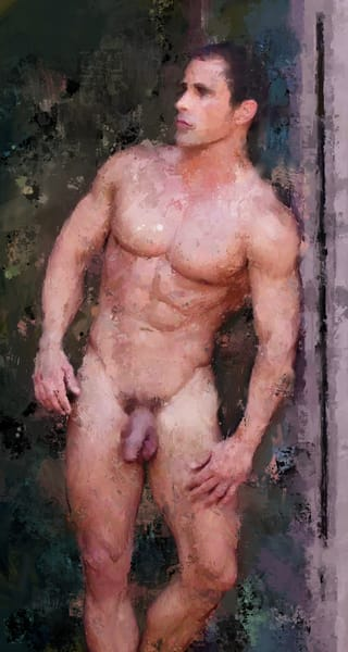"""Nude Man Standing"" by Eric Wallis"